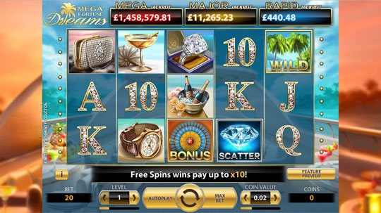Mega Fortune: Dreams Online Slot