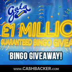 £1million Gala Bingo Giveaway