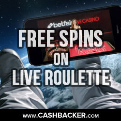 Free Spins On Live Roulette At Betfair Casino