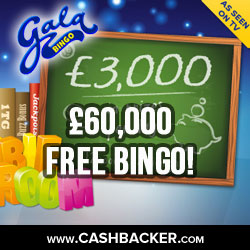 Win £60k with Gala Bingo Free Bingo